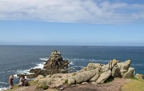 Land's End Cornwall - spectacular coastal scenery on holiday