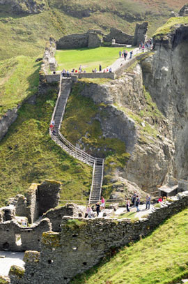 Tintagel and Arthurian ruins